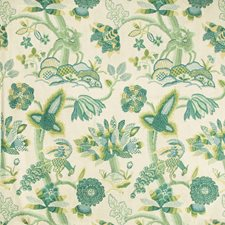 Emerald/Teal Animal Decorator Fabric by Lee Jofa
