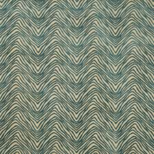 Teal Ethnic Decorator Fabric by Lee Jofa