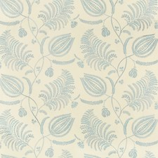 Ecru/Sky Botanical Decorator Fabric by Lee Jofa