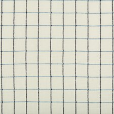 Navy Check Decorator Fabric by Lee Jofa
