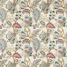 Red/Blue Botanical Decorator Fabric by Lee Jofa