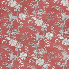Crim/Navy Botanical Decorator Fabric by Lee Jofa
