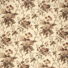Plum/Brow/Ecru Botanical Decorator Fabric by Lee Jofa
