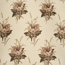 Plum/Ecru Botanical Decorator Fabric by Lee Jofa