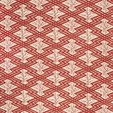 Red/Ecru Ethnic Decorator Fabric by Lee Jofa