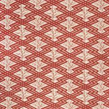 Red/Ecru Ethnic Decorator Fabric by Lee Jofa