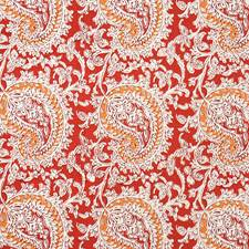 Mineral Red/Ginger Decorator Fabric by RM Coco