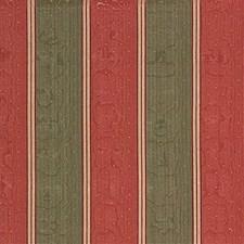 Green/Burgundy/Red Stripes Decorator Fabric by Kravet