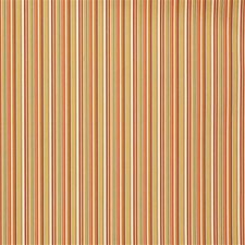 Coral/Moss Stripes Decorator Fabric by Lee Jofa