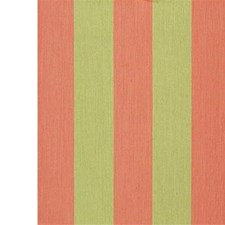 Coral/F Stripes Decorator Fabric by Groundworks