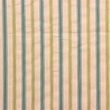 Beige/Green/Yellow Stripes Decorator Fabric by Kravet