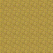 Amber Yellow Geometric Decorator Fabric by S. Harris