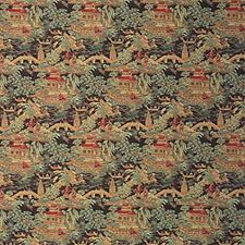 Sienna Brown Asian Decorator Fabric by Kravet