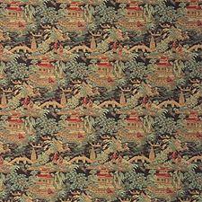 Sienna Brown Asian Decorator Fabric by Kravet