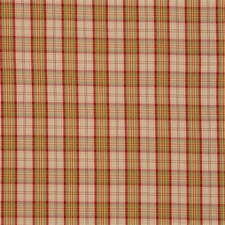 Burgundy/Red/Gold Plaid Decorator Fabric by Kravet