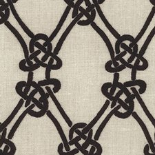 Ebony On Greige Decorator Fabric by Schumacher