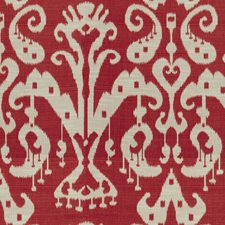 Venetian Red Ikat Decorator Fabric by Kravet