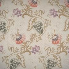Multi On Ivory Lampas Decorator Fabric by Scalamandre