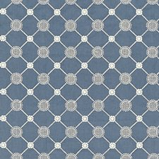 Copenhagen Blue Decorator Fabric by Scalamandre