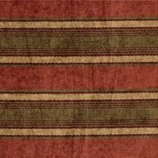 Burgundy/Red/Green Stripes Decorator Fabric by Kravet