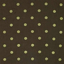 Brown/Green Dots Decorator Fabric by Kravet
