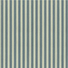 Blue/White Stripes Decorator Fabric by Kravet