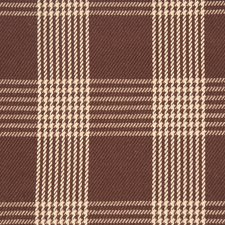 Brown Check Decorator Fabric by Fabricut