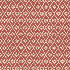 Burgundy/Red/White Botanical Decorator Fabric by Kravet