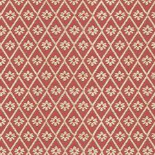 Burgundy/Red/White Diamond Decorator Fabric by Kravet