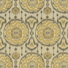 Beige/Grey/Light Yellow Ethnic Decorator Fabric by Kravet