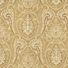 Beige/Yellow Ethnic Decorator Fabric by Kravet