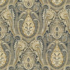 White/Yellow/Blue Ethnic Decorator Fabric by Kravet
