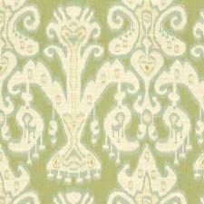 Beige/Light Green/Light Blue Ethnic Decorator Fabric by Kravet