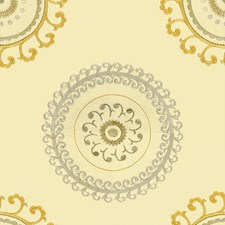 White/Grey/Yellow Contemporary Decorator Fabric by Kravet