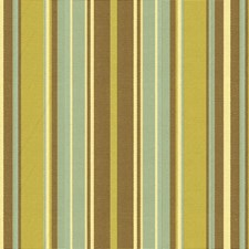 Brown/Green/Light Blue Stripes Decorator Fabric by Kravet