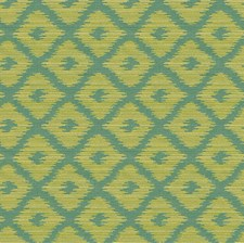 Light Blue/Yellow/Light Green Contemporary Decorator Fabric by Kravet