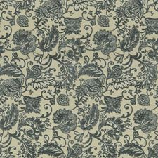 Blue/Grey/Beige Jacobeans Decorator Fabric by Kravet