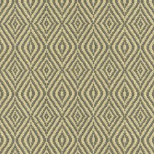 Blue/Beige Diamond Decorator Fabric by Kravet