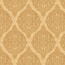Beige/Yellow Damask Decorator Fabric by Kravet