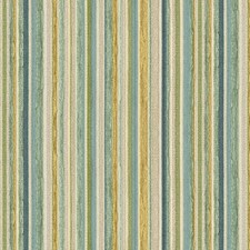 Beige/Blue/Green Stripes Decorator Fabric by Kravet