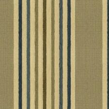 Blue/Beige Stripes Decorator Fabric by Kravet