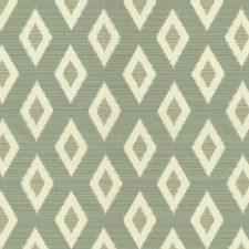 White/Light Blue/Light Green Diamond Decorator Fabric by Kravet