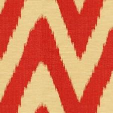 White/Orange Ikat Decorator Fabric by Kravet