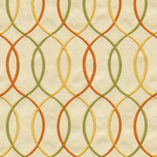Beige/Green/Orange Geometric Decorator Fabric by Kravet