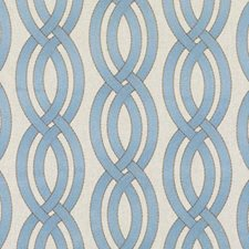 Turquoise Embroidery Decorator Fabric by Duralee