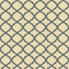 Dark Blue/Beige Geometric Decorator Fabric by Kravet