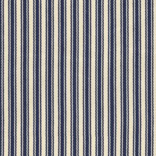 Blue/White Stripes Decorator Fabric by Kravet