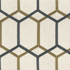 Ivory/Grey/Blue Modern Decorator Fabric by Kravet