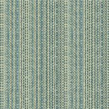 Blue/Ivory/Light Blue Stripes Decorator Fabric by Kravet