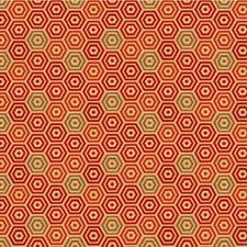 Persimmon Geometric Decorator Fabric by Kravet